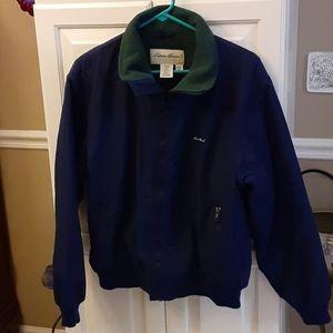 Eddie Bauer navy blue Polartec fleece lined jacket